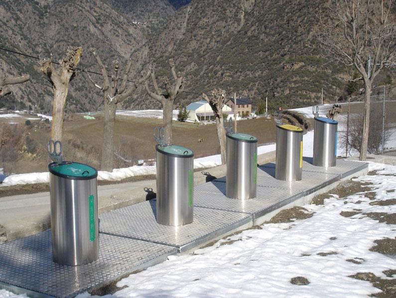 Construcciones metálicas para gestión de residuos